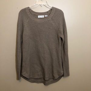 Pink Rose Knit Sweater Long Raglan Sleeve Top